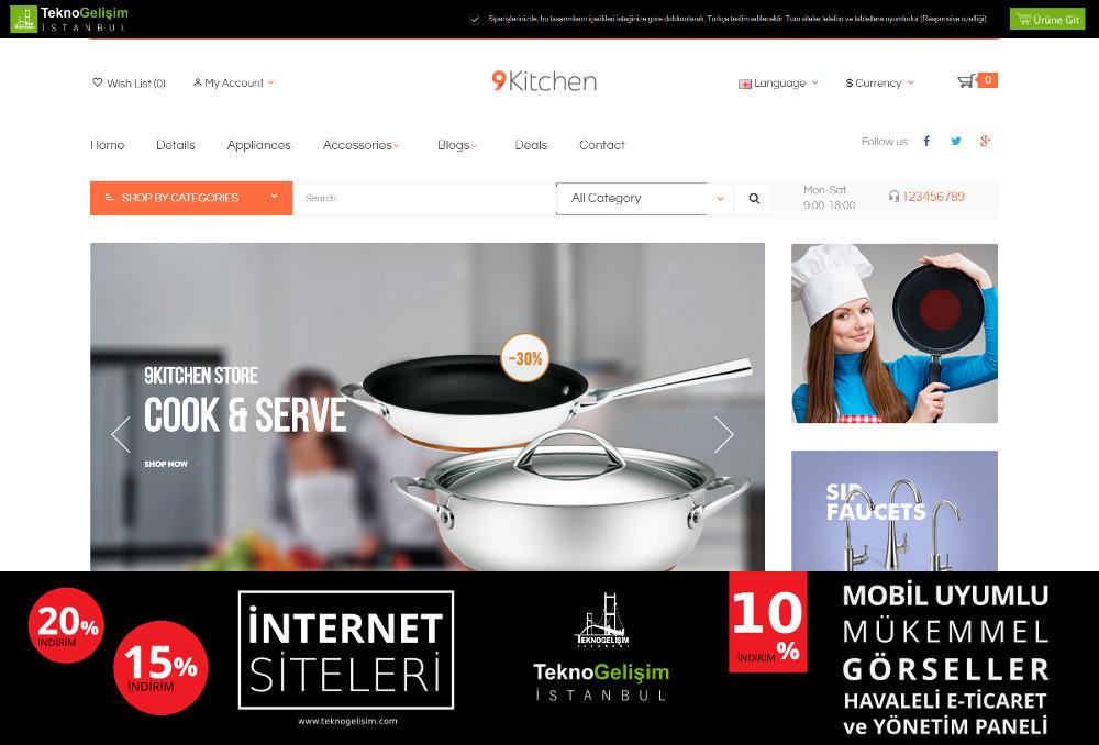 E-Ticaret Sitesi Sektöre Özel Tasarım 35