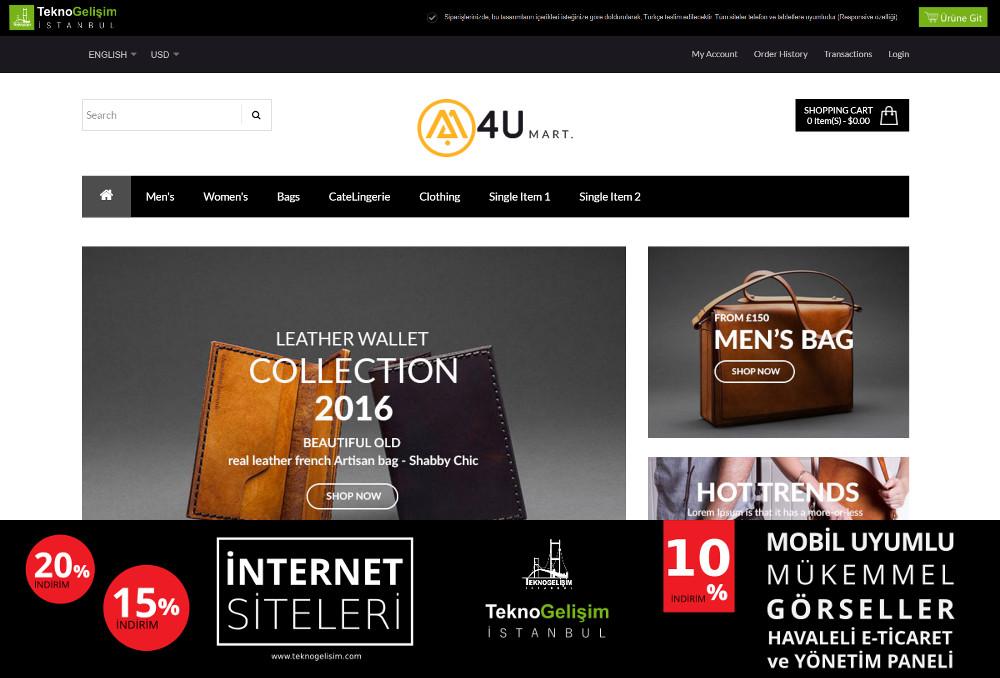 E-Ticaret Sitesi Sektöre Özel Tasarım 37