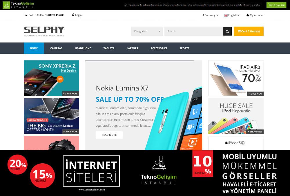 E-Ticaret Sitesi Sektöre Özel Tasarım 38