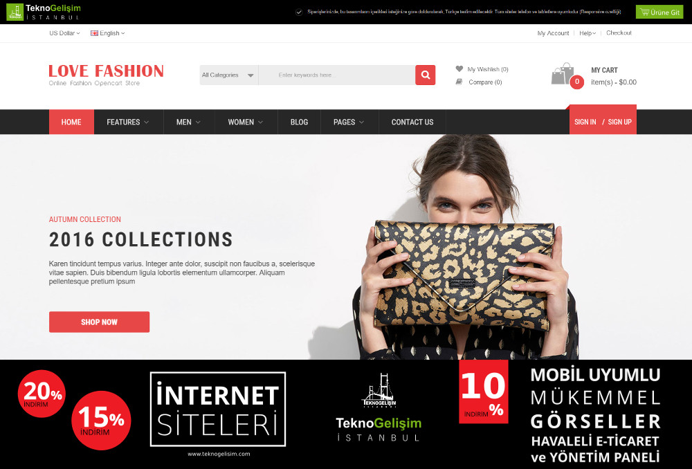 E-Ticaret Sitesi Sektöre Özel Tasarım 42