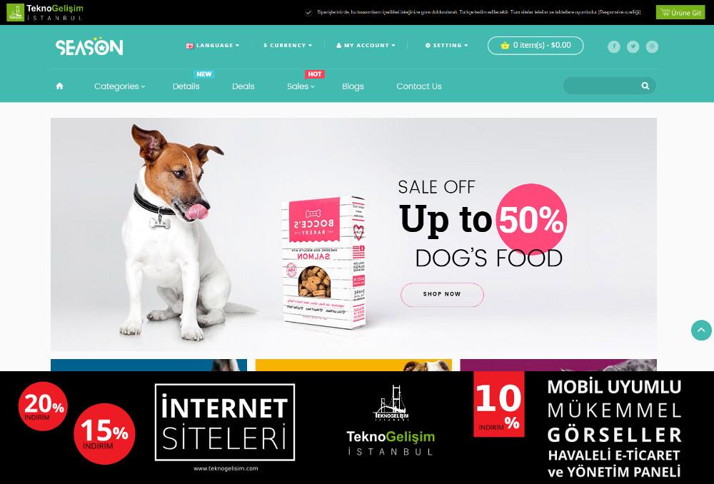 E-Ticaret Sitesi Sektöre Özel Tasarım 44