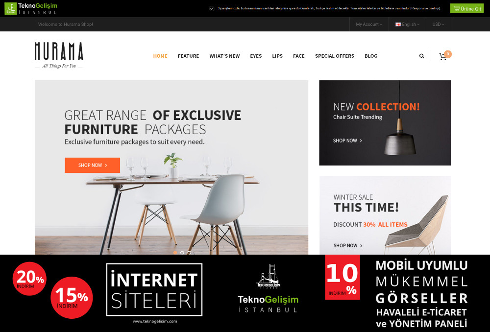 E-Ticaret Sitesi Sektöre Özel Tasarım 45