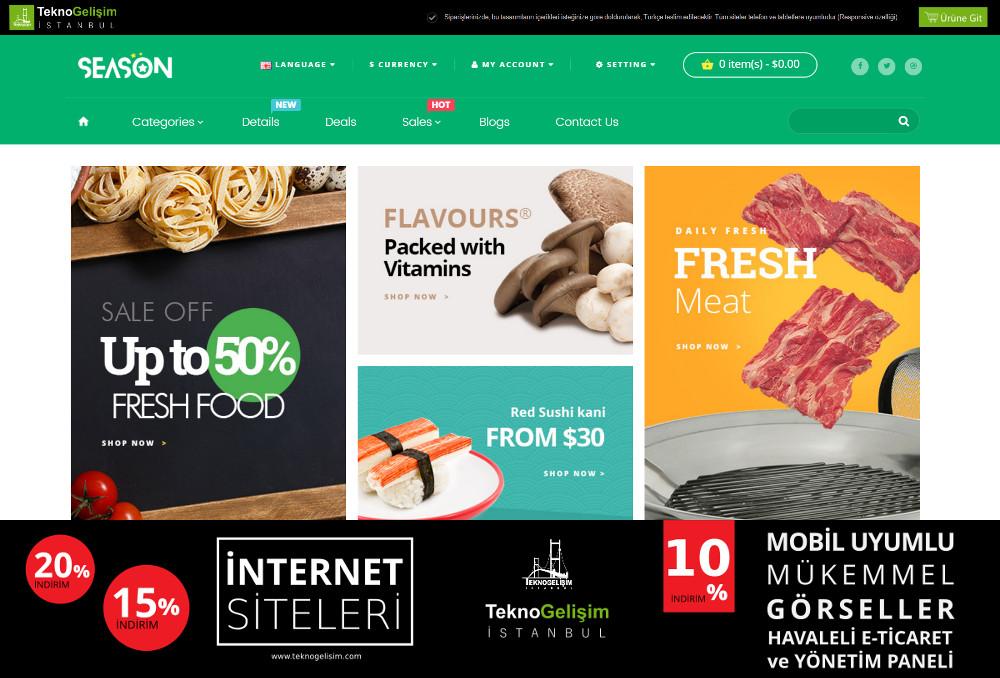 E-Ticaret Sitesi Sektöre Özel Tasarım 48