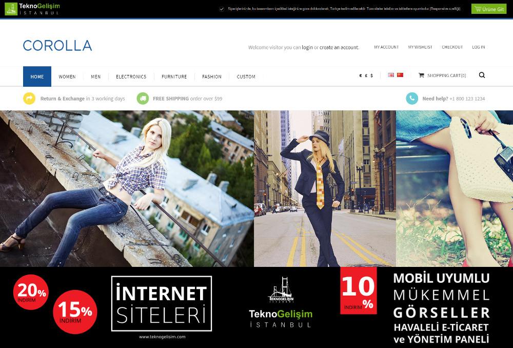 E-Ticaret Sitesi Sektöre Özel Tasarım 49