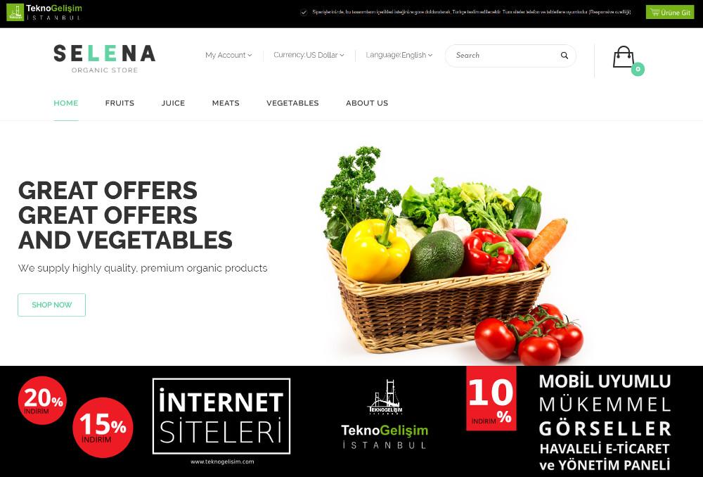 E-Ticaret Sitesi Sektöre Özel Tasarım 50