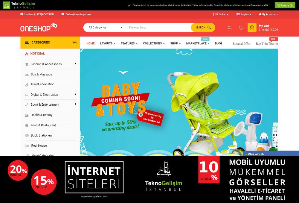 E-Ticaret Sitesi Sektöre Özel Tasarım 53