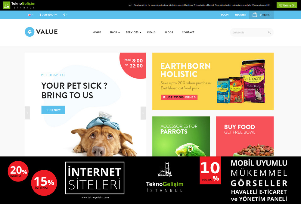E-Ticaret Sitesi Sektöre Özel Tasarım 54