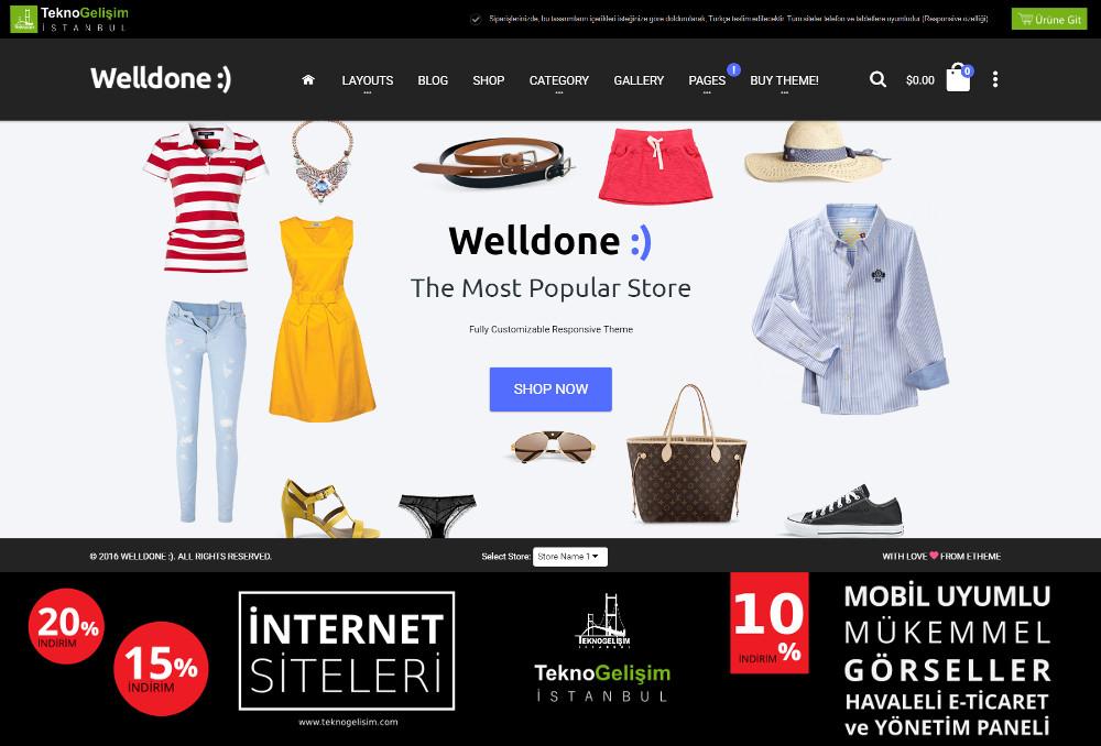 E-Ticaret Sitesi Sektöre Özel Tasarım 55 (Tam Ekranlı Anasayfa)