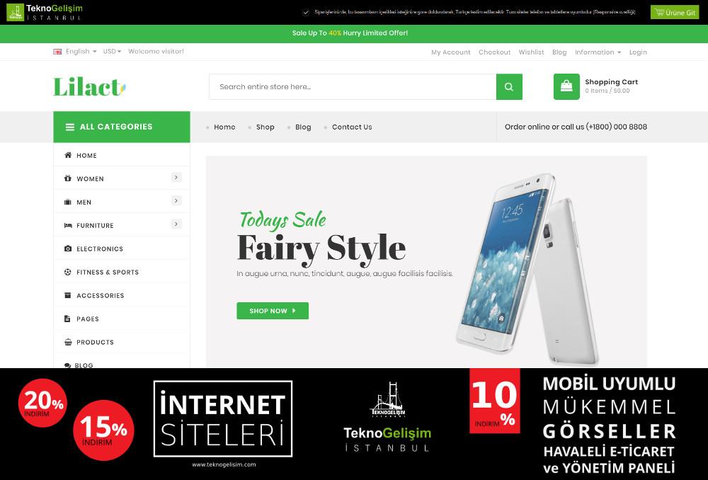 E-Ticaret Sitesi Sektöre Özel Tasarım 57