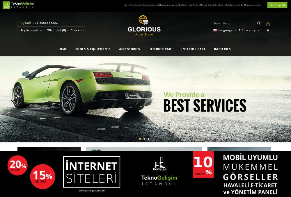 E-Ticaret Sitesi Sektöre Özel Tasarım 58