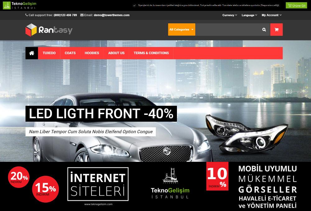 E-Ticaret Sitesi Sektöre Özel Tasarım 61