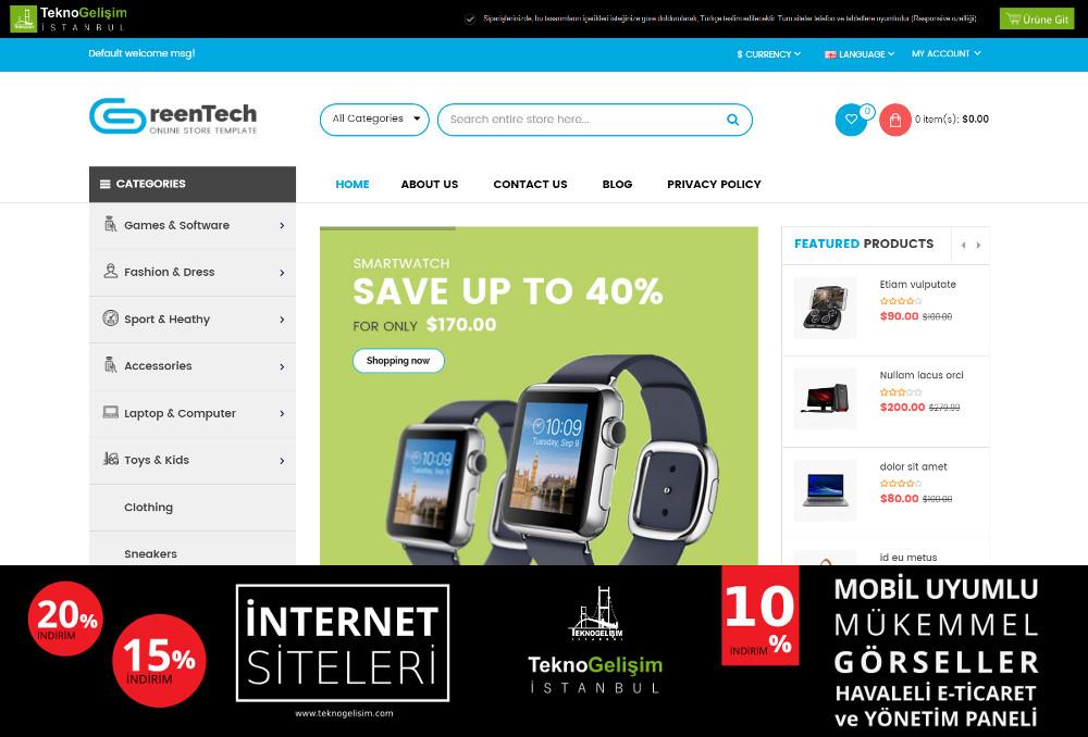 E-Ticaret Sitesi Sektöre Özel Tasarım 63