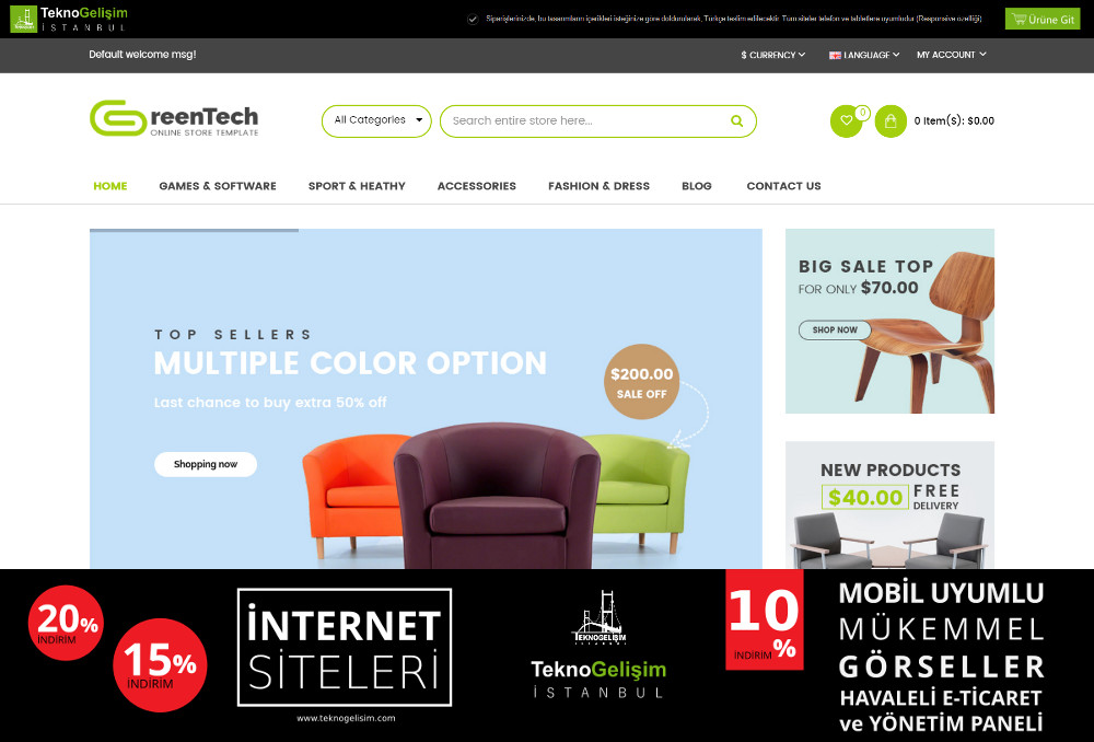 E-Ticaret Sitesi Sektöre Özel Tasarım 66