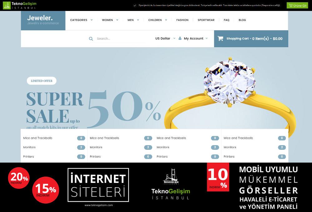E-Ticaret Sitesi Sektöre Özel Tasarım 67