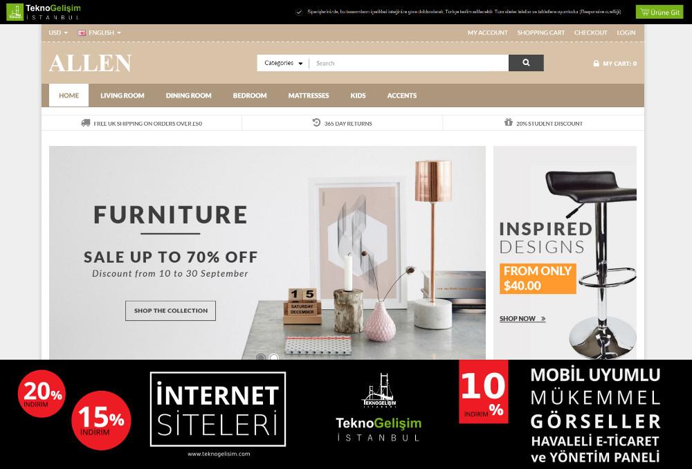 E-Ticaret Sitesi Sektöre Özel Tasarım 68