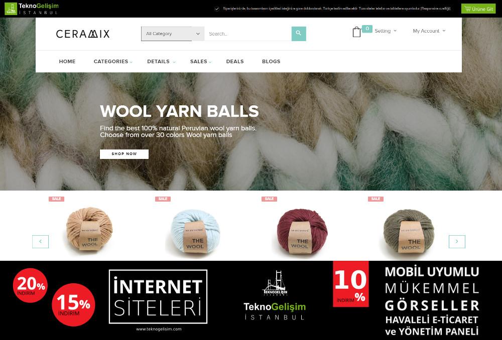 E-Ticaret Sitesi Sektöre Özel Tasarım 69