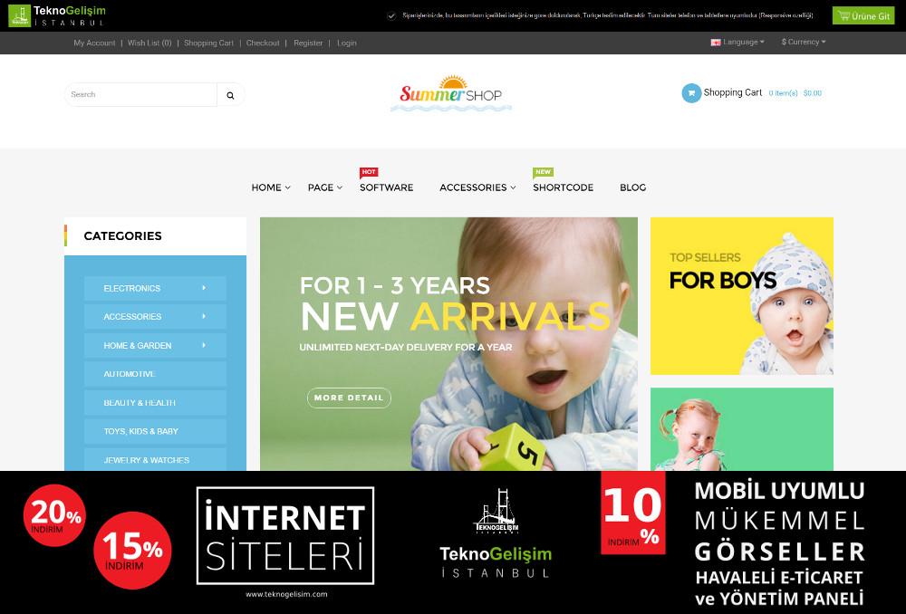 E-Ticaret Sitesi Sektöre Özel Tasarım 83