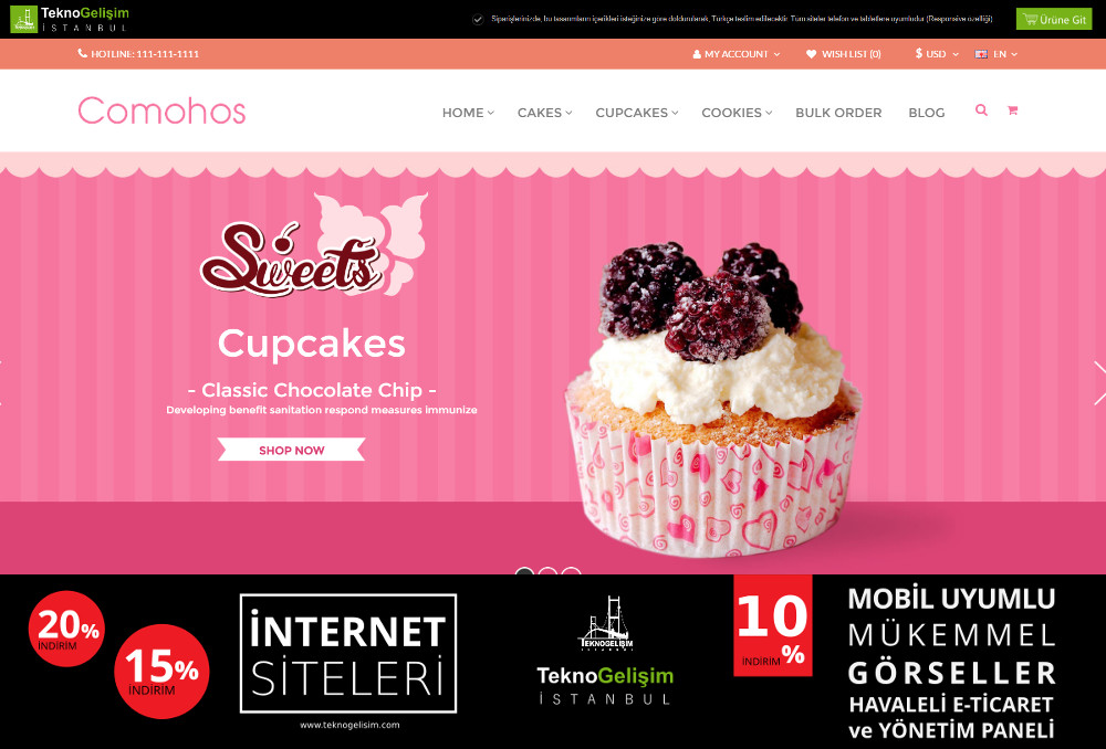 E-Ticaret Sitesi Sektöre Özel Tasarım 87