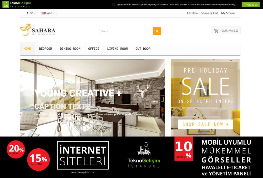 E-Ticaret Sitesi Sade Tasarım 01