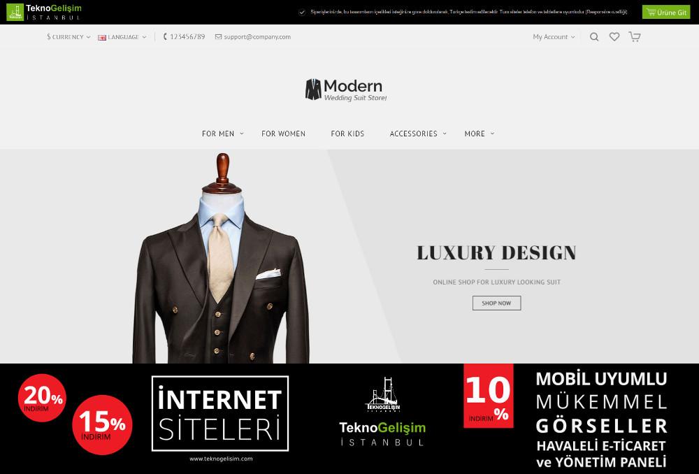 E-Ticaret Sitesi Sade Tasarım 02