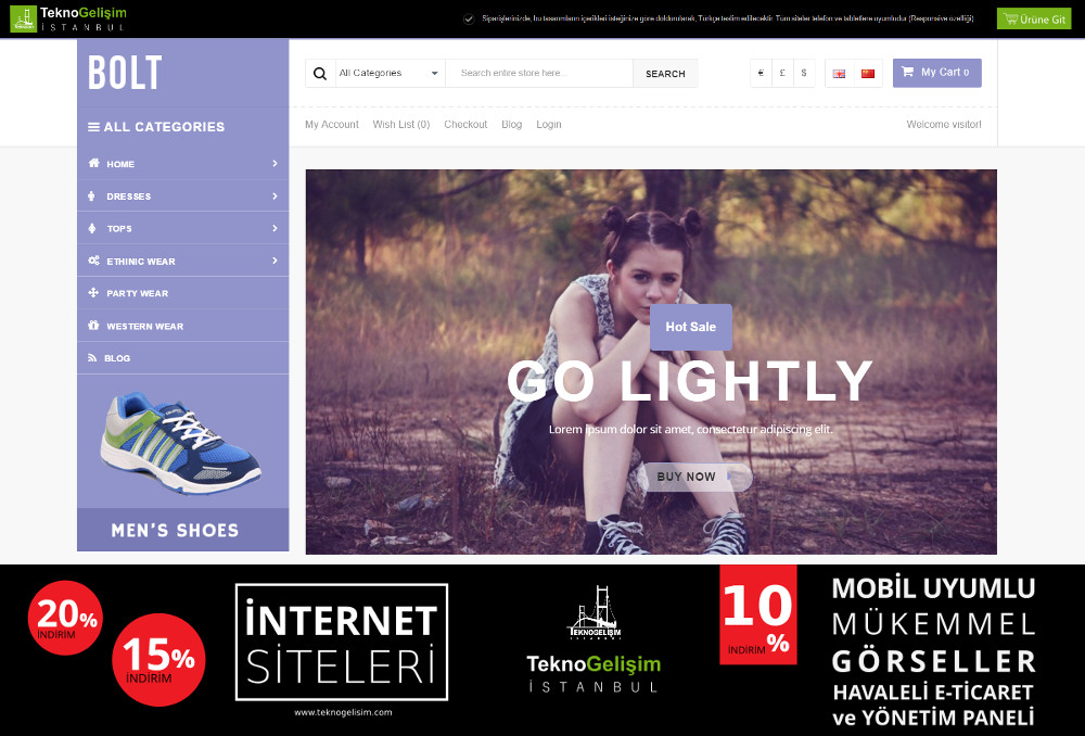 E-Ticaret Sitesi Sade Tasarım 03