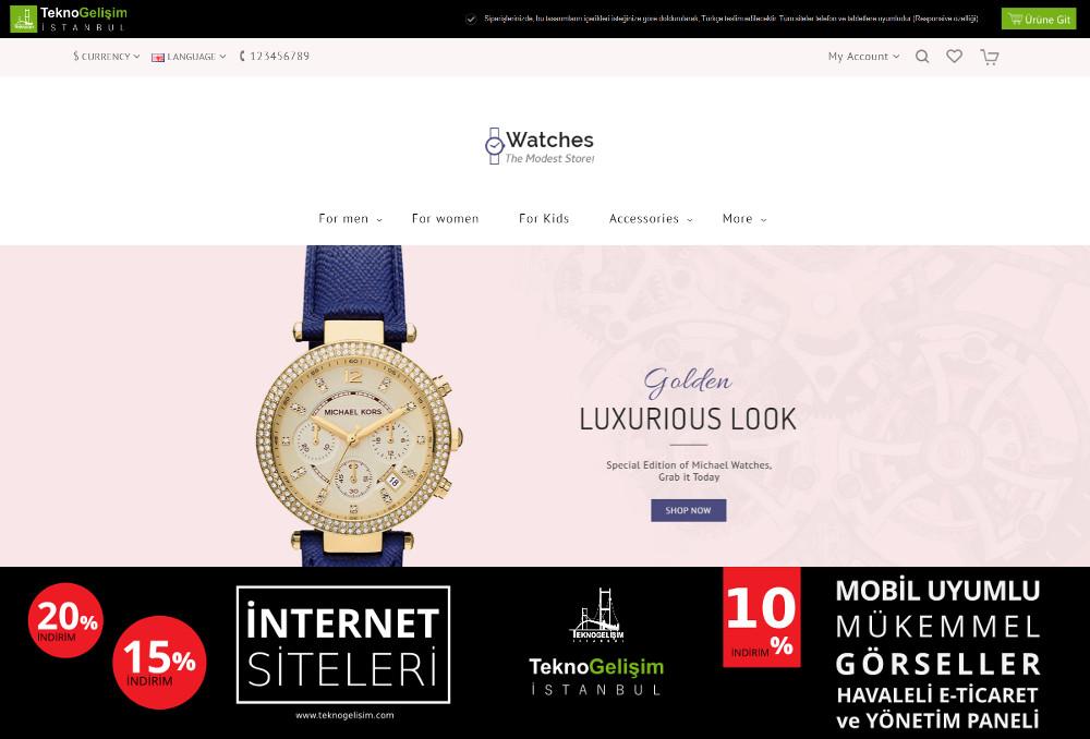 E-Ticaret Sitesi Sade Tasarım 04