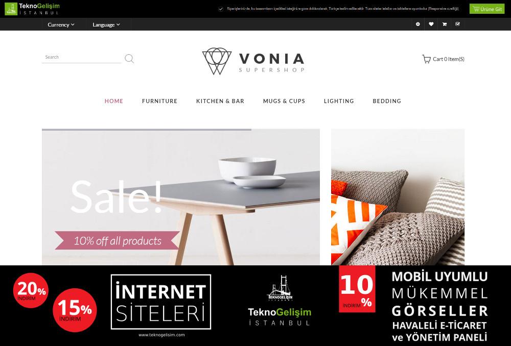 E-Ticaret Sitesi Sade Tasarım 05