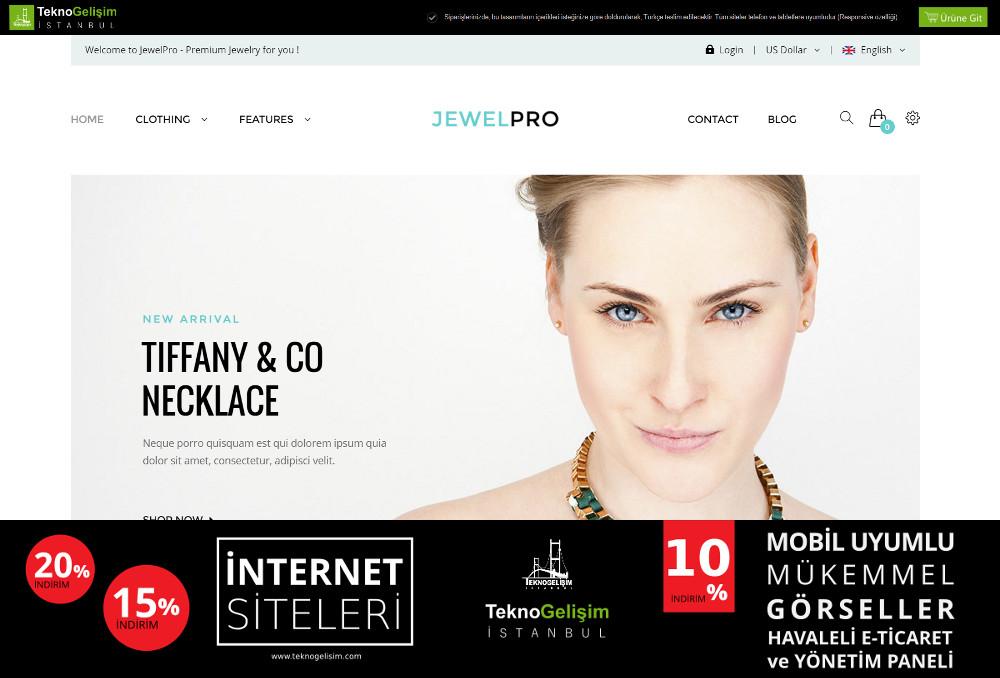 E-Ticaret Sitesi Sade Tasarım 06
