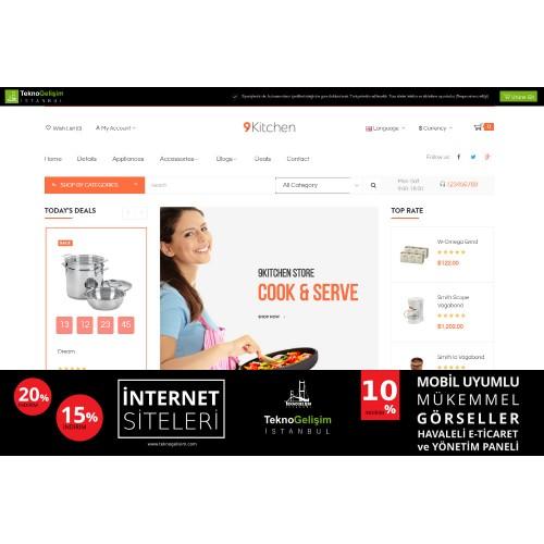 E-Ticaret Sitesi Sade Tasarım 08