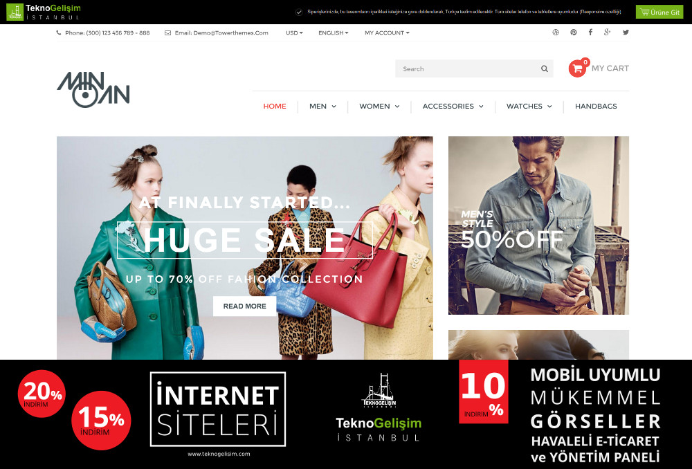 E-Ticaret Sitesi Sade Tasarım 09