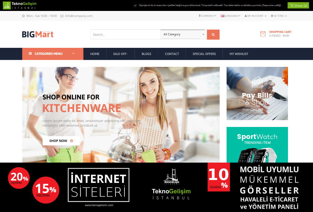E-Ticaret Sitesi Sade Tasarım 10