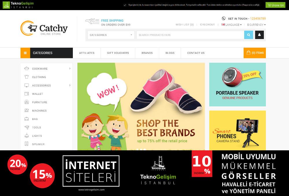 E-Ticaret Sitesi Sade Tasarım 11