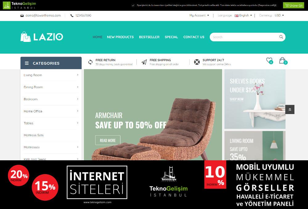 E-Ticaret Sitesi Sade Tasarım 13
