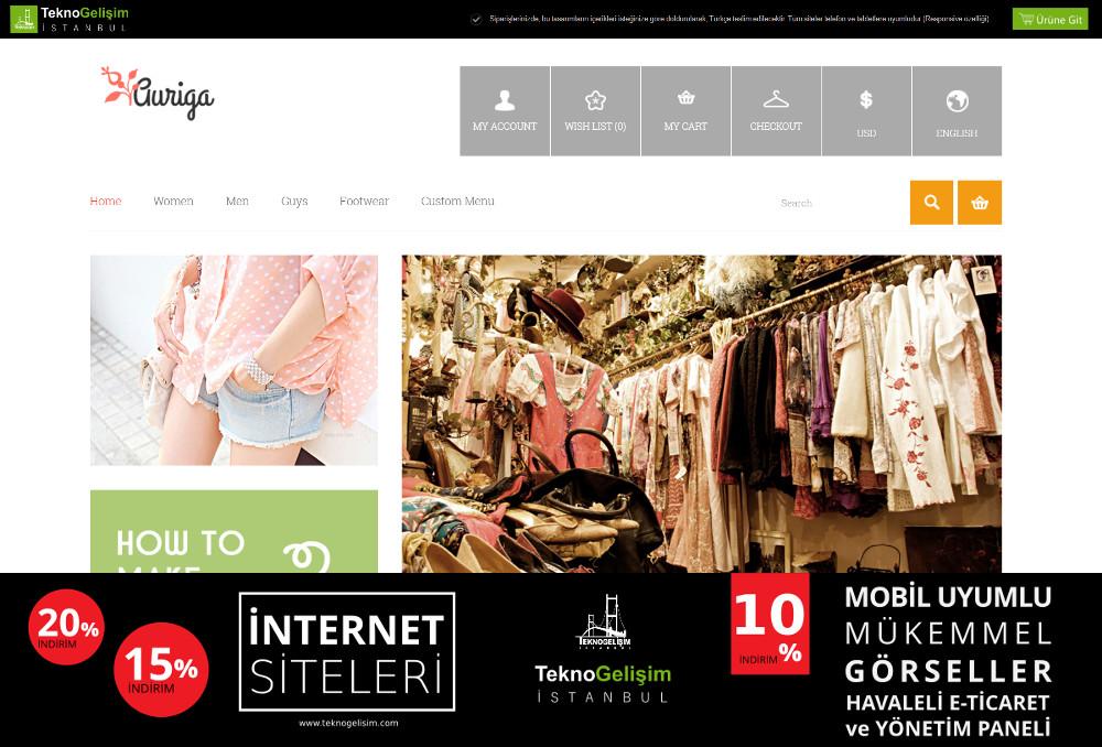 E-Ticaret Sitesi Sade Tasarım 14